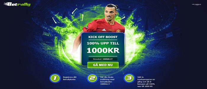 Betrally bonuskod för 100% oddsbonus upp till 1000 kr